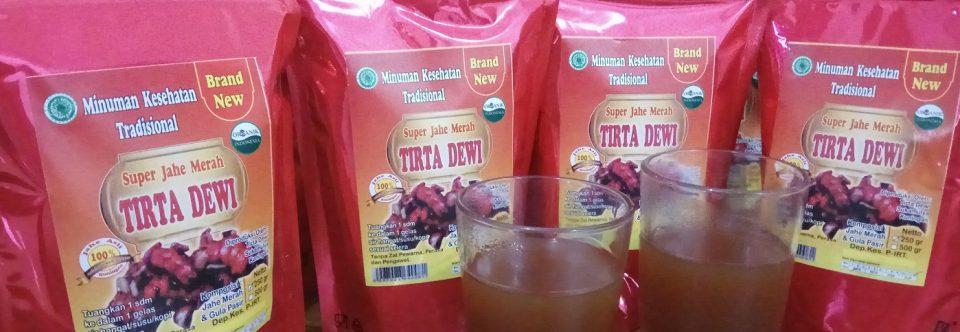 Minuman Kesehatan Tradisional Jahe Merah Bubuk Herbal
